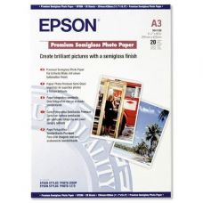 Бумага Epson A3 Premium Semigloss Photo Paper, 20л. (C13S041334)